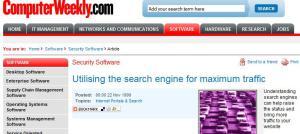 A screenshot of the ComputerWeekly website