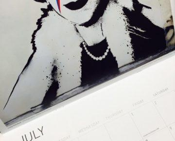 A corner of a calendar